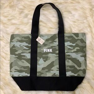 Victoria's Secret Pink Camo Tote New With Tags NWT